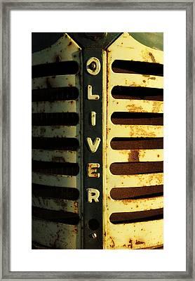 A Tractor Named Oliver Framed Print
