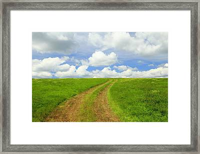 A Trail To The Horizon Framed Print