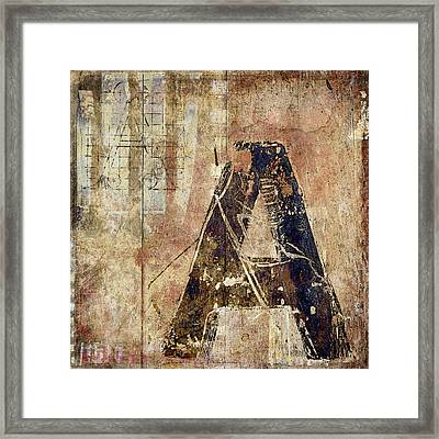A Train Framed Print by Carol Leigh