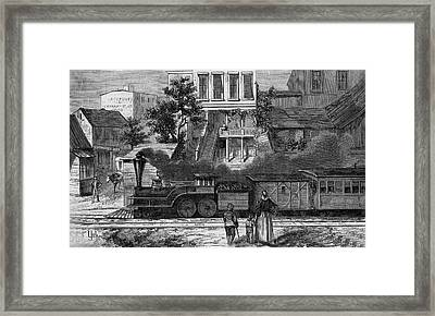 A Train Of The Camden & Amboy Framed Print by Mary Evans Picture Library