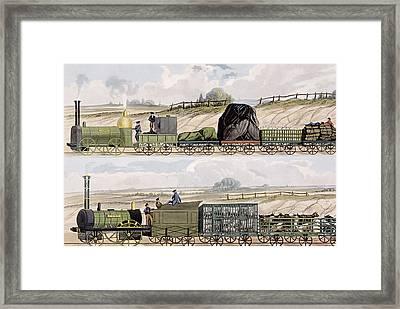 A Train Of Wagons And A Train Framed Print