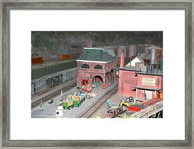 A Train Station Framed Print by Hugh McClean