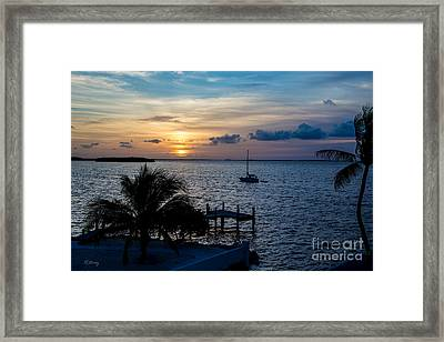 A Tranquil Conquering Of The Night Framed Print by Rene Triay Photography