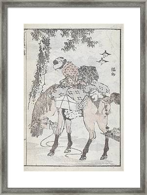 A Traveller On Horseback Framed Print by British Library