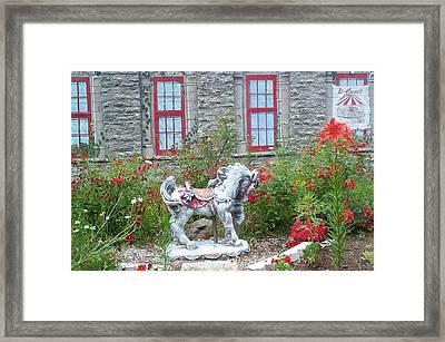 A Treasure In A Garden Framed Print by Barbara McDevitt