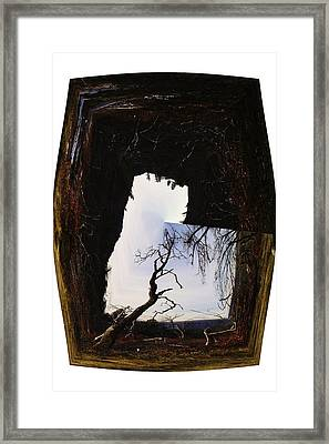 A Tree In A Square Abstract Framed Print