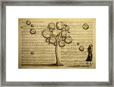 A Tree In The Meadow Framed Print