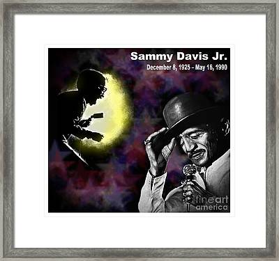 A Tribute To Sammy David Jr Framed Print by Jim Fitzpatrick