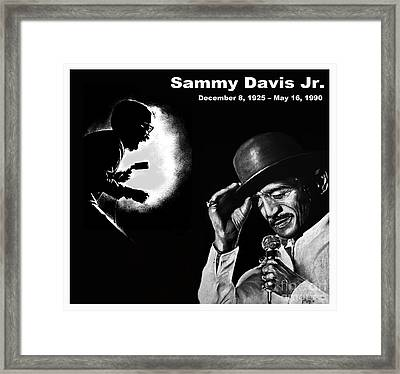 A Tribute To Sammy Davis Jr Framed Print