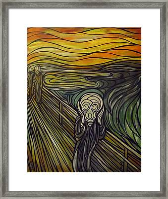A Tribute To The Scream Framed Print by Anthony Schwed