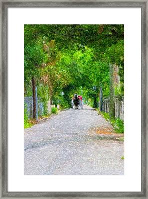 A Trip Down Memory Lane Framed Print