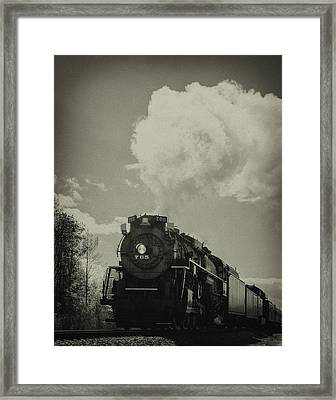 A Trip In The Past-the 765 Steam Locomotive Framed Print