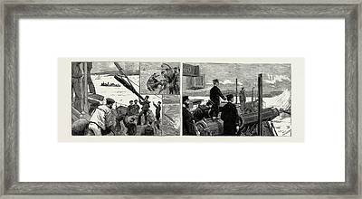 A Trip In Torpedo Boat No. 60 Framed Print by Litz Collection