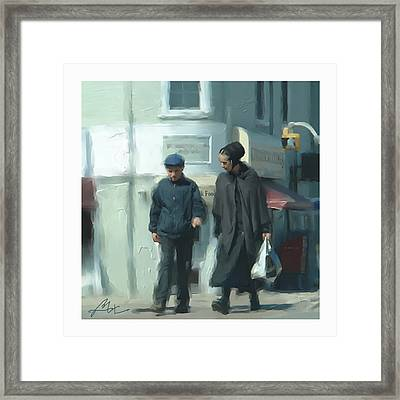 Framed Print featuring the digital art A Trip To The Store by Bob Salo