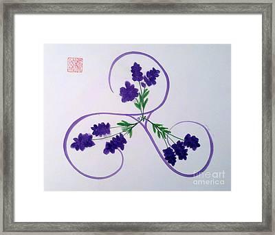 A Triskele Of Lavender Framed Print