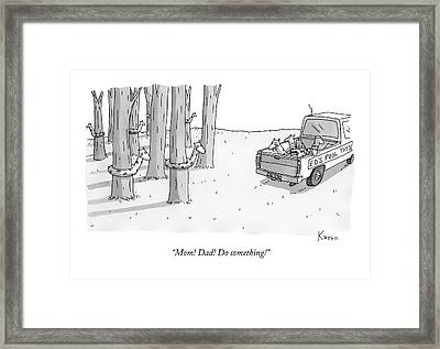A Truck For Ed's Pool Toys Drives Pool Toys Framed Print
