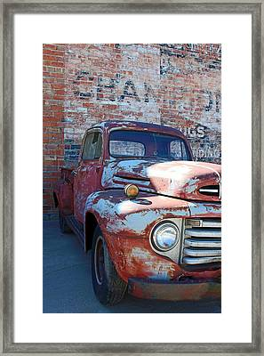 A Truck In Goodland Framed Print