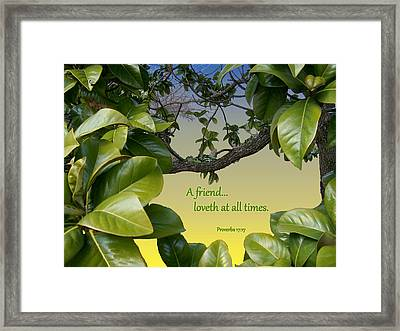 A True Friend Framed Print by Larry Bishop