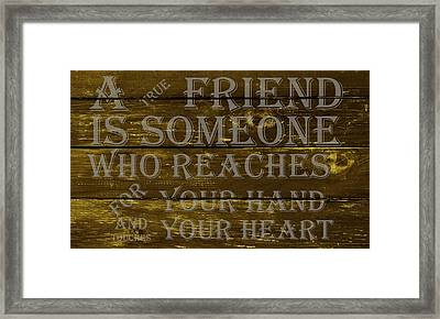 A True Friend Framed Print