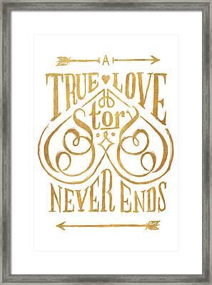 A True Love Story Framed Print by South Social Studio