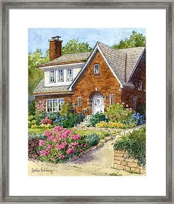 A Tudor Summer Framed Print by Leslie Fehling