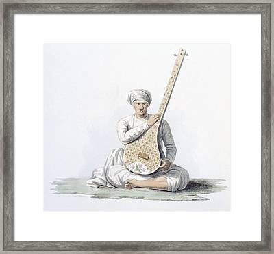 A Tumboora, Musical Instrument Played Framed Print
