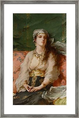 A Turkish Beauty Framed Print by Gaetano de Martini