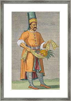 A Turkish Chef Framed Print by David Nicolai