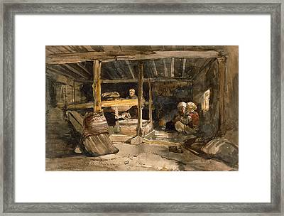 A Turkish Mill, Chikaey Framed Print by William James Muller