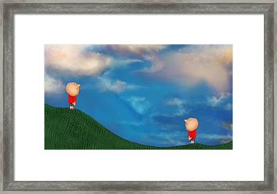 A Twin's Perspective Framed Print