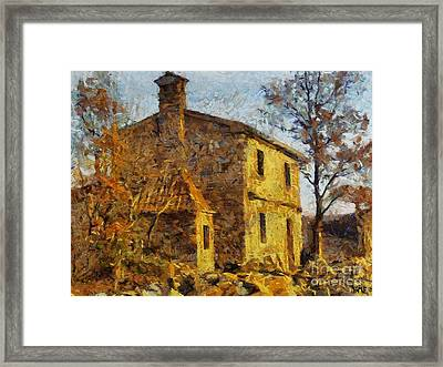 A Typical  Karstic House Framed Print by Dragica  Micki Fortuna