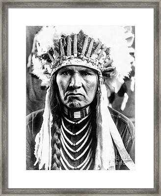 A Typical Nez Perce Framed Print