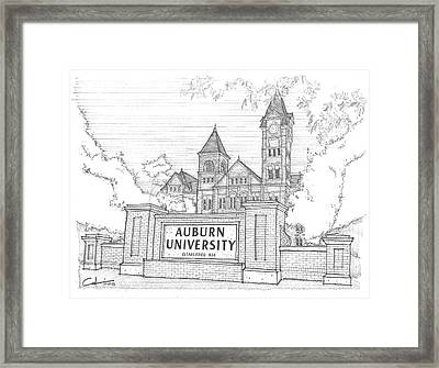 Framed Print featuring the drawing A U by Calvin Durham