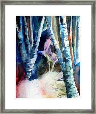 A Unicorn In The Distance Framed Print