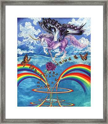 A Unicorn's Love Framed Print by Barry Munden