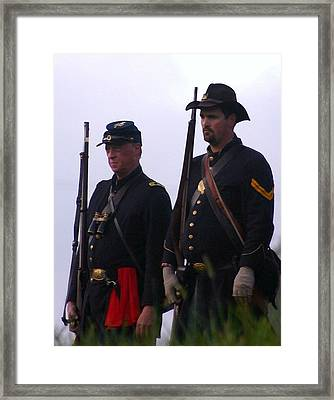 A Union Officer And His Aide - Perryville Ky Framed Print