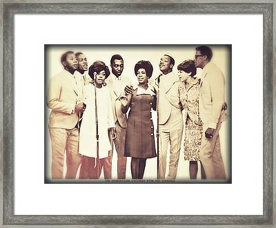 Motown Harmony Framed Print by Kellice Swaggerty