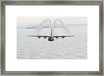 A U.s. Air Force C-130j Hercules Cargo Aircraft Framed Print