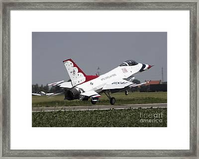 A U.s. Air Force F-16 Thunderbird Jet Framed Print