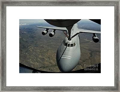 A U.s. Air Force Kc-135r Stratotanker Framed Print by Stocktrek Images