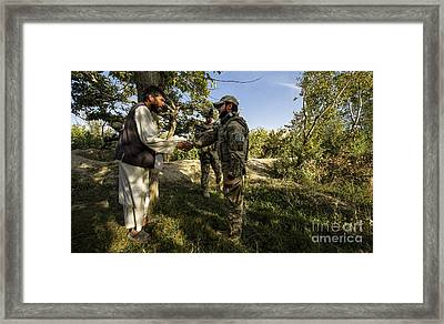 A U.s. Air Force Master Sergeant Framed Print by Stocktrek Images