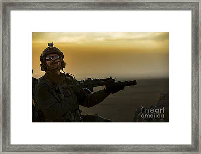 A U.s. Air Force Pararescueman Provides Framed Print
