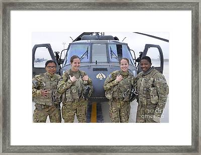 A U.s. Army All Female Crew Framed Print