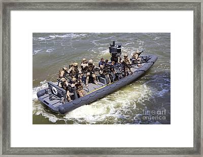A U.s. Marine Corps Visit, Board Framed Print by Stocktrek Images