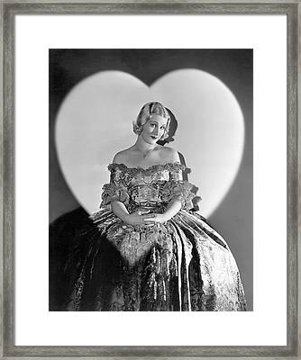 A Valentine Woman Framed Print by Underwood Archives