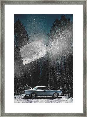 A Valiant Cover Up Framed Print