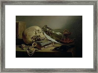 A Vanitas Still Life Framed Print