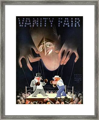 A Vanity Fair Cover Depicting Class Issues Framed Print by Paolo Garretto