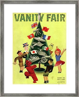 A Vanity Fair Cover Depicting International Framed Print