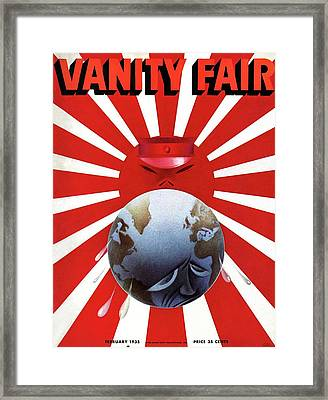 A Vanity Fair Cover Depicting The Rise Of Japan Framed Print